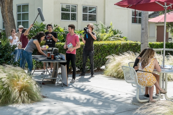 Chapman University students making film.